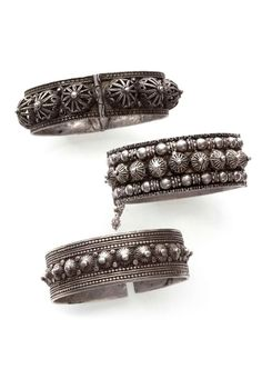 Algeria | Three silver hinged bracelets | Aures.  ca early 20th century | 280 € ~ sold (Dec '14)