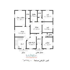 تخطيط منزل 150 متر House Layout Plans, Family House Plans, New House Plans, Dream House Plans, House Layouts, House Floor Plans, House Floor Design, Home Design Floor Plans, Square House Plans