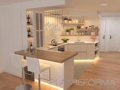 178 best farmhouse kitchen design ideas to bring classic look- page 5 Kitchen Room Design, Kitchen Sets, Modern Kitchen Design, Home Decor Kitchen, Kitchen Living, Interior Design Kitchen, Kitchen Furniture, Kitchen Cabinet Design, Home Kitchens