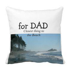 for DAD BEACH pillow