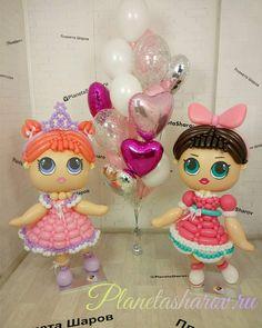 Ballon Decorations, Balloon Crafts, Balloon Dress, Doll Party, Happy B Day, Girl Decor, Lol Dolls, 9th Birthday, Event Planning