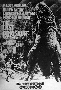{smb}  This was cool in it's time.  Cheesy, but cool.  (the LAST DINOSAUR (1977))