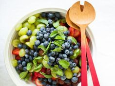 Get Fruit Salad with Orange-Vanilla Syrup Recipe from Food Network