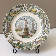 A personal favorite from my Etsy shop https://www.etsy.com/listing/224218241/new-york-city-souvenir-plate-g-nov-co