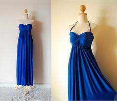 Elegant Blue Evening Dress by pinksandcloset on Etsy, $55.00