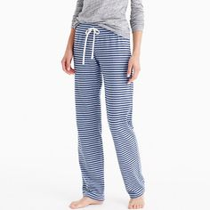 Dreamy cotton pant in stripe: Tall  medium