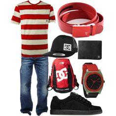 """Cadmium Belt - Red"" by kristinmadsen on Polyvore"