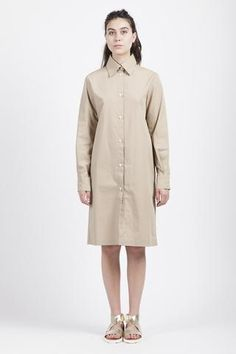 Tucson Dress.   Beige short dress | Beige long shirt | Minimalist long shirt | Minimalist woman | Minimalist style | Capsule wardrobe | Intentional living | Slow fashion |  Simplicity | Less is more