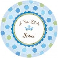 Little Prince Baby Shower Banquet Plates Pkt8 $12.95 A599458