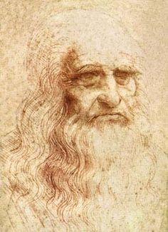 Leonardo da Vinci - Self Portrait Leonardo Da Vinci Biography, Leonardo Vinci, Artist Biography, Milan Museum, Da Vinci Inventions, Famous Art Pieces, Cesare Borgia, High Renaissance, Face Sketch