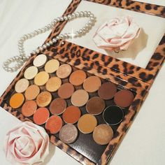 My z-palette filled with beautiful, neutral eyeshadows from Makeup Geek and Mac Cosmetics - my favorite eyeshadows
