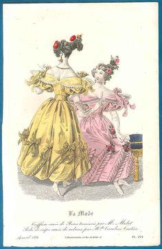 Romantic/ Regency fashion print 1832 ball by SylvestraRegency