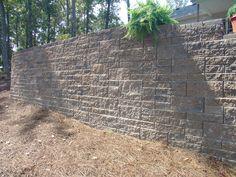 Ashlar Pattern Retaining Wall (Ashlar - Multiple sized blocks to make a random pattern) Ashlar Pattern, Random Pattern, Retaining Walls, Landscaping, It Cast, Stone, Rock, Yard Landscaping, Stones