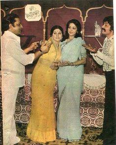 Aruna Irani , Hema Malini , Asrani