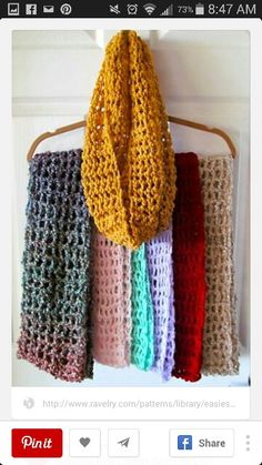 Easiest Ever Infinity Scarf pattern by Lori Bennett Kramer 2019 Easiest Ever Infinity Scarf By Lori Bennett Kramer Free Crochet Pattern (ravelry) The post Easiest Ever Infinity Scarf pattern by Lori Bennett Kramer 2019 appeared first on Scarves Diy. Mode Crochet, Knit Or Crochet, Crochet Scarves, Crochet Shawl, Crochet Crafts, Crochet Hooks, Ravelry Crochet, Crochet Ideas, Knitting Scarves