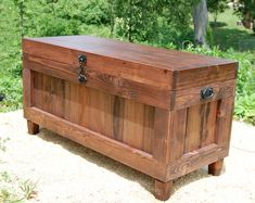 This is our Red Mahogany Extra Large Hope Chest with our unique Hasp Latch and two side handles imagine it at the end of your bed bench...Use