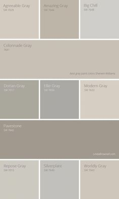 Best gray paint colors Sherwin Williams are not only limited in colors that are considered as true gray options but also greige options. Check out the list of 11 most amazing Sherwin Williams gray paint colors here! Farmhouse Paint Colors, Exterior Paint Colors For House, Bedroom Paint Colors, Interior Paint Colors, Paint Colors For Living Room, Paint Colors For Home, Interior Painting, Paint Colours, Interior Design