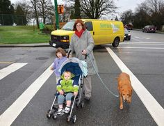 Andrea Mears is afraid someone could be injured or killed at the border of Burnaby and New Westminster. Pedestrian, Westminster, Crosses, Baby Strollers, Corner, Children, Dogs, Baby Prams, Young Children