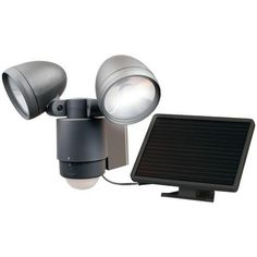 Maxsa Innovations Bright Dual-head Solar Security Light (dark Bronze) (pack of 1 Ea)