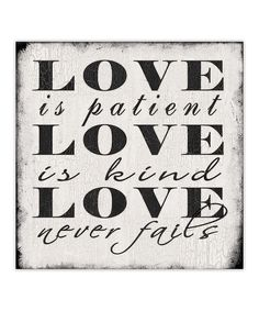 Designs Direct Creative Group Love Is Patient Canvas | zulily