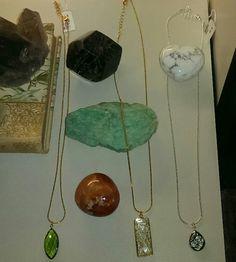 Beautiful healing crystals #garnet #howlite #carnelian #rutilated #quartz #necklaces