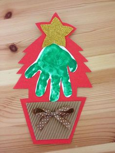 Handprint Christmas tree                                                                                                                                                                                 More