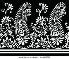 Paisley Indian motif