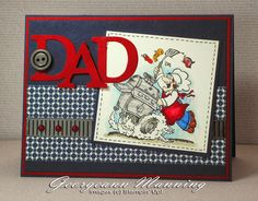 A Card for Dad. (trying to use up my retired stuff)