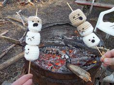 """Screamallows"" by StitchyKitty amigurumi crochet play food marshmallows"