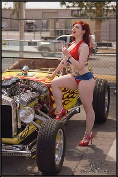 The strip had a nice race/show. Western Fuel Altered's Nitro cars / Alky cars plus a nice sized show. Rat Rod Girls, Car Girls, Pin Up Girls, Rockabilly Cars, Trucks And Girls, Us Cars, Sexy Cars, Sexy Hot Girls, Sexy Outfits