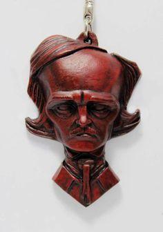 Red Death Poe  Charm /key chain/ trinket by Ginoybarra on Etsy, $10.00
