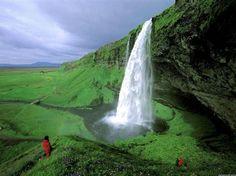 Chute de Seljalandsfoss, Islande