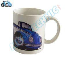Mug Coccinelle Cabriolet Bleu | réf : MUG015 [EN] Mug Blue Beetle Cabriolet  Ceramic mug, height 90 mm, diameter 80 mm - [FR] Tasse en céramique, hauteur 90 mm, diamètre 80 mm  http://www.mecatechnic.com/partenaires/pinterest.asp?redirect=http%3A%2F%2Fwww%2Emecatechnic%2Ecom%2Fpieces%2Easp%3Fcode0%5Fref%3DBDM%26code1%5Fref%3DMUG%26code2%5Fref%3DVOL%26code3%5Fref%3DCOX
