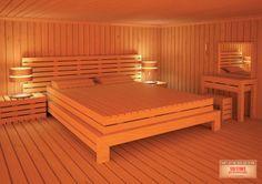 Six Stars Air-Con Maintenance: Bedroom sauna thats awesome i love it Sauna Steam Room, Sauna Room, Star Bedroom, Finnish Sauna, Steam Spa, Saunas, Bath, Relax, House Design
