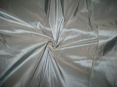 100% Pure SILK TAFFETA FABRIC Blue x Ivory shot 2.72 yards continuous piece 60""