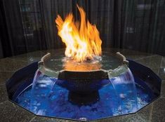The Monaco fountain by HPC is a must have for any residence or commercial venue! This extravagant fire on water feature is equipped with an auto-fill pump system that supplies the 26 inch top bowl with gallons of filtrated water per hour. Backyard Fireplace, Fire Pit Backyard, Backyard Bbq, Backyard Landscaping, Backyard Ponds, Outdoor Fireplaces, Backyard Retreat, Fire Pit With Water Feature, Diy Water Fountain