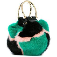 Salvatore Ferragamo fur crossbody bag (38 390 UAH) ❤ liked on Polyvore featuring bags, handbags, shoulder bags, salvatore ferragamo, multicolor handbags, crossbody shoulder bags, colorful handbags and fur handbags