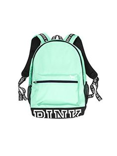 Victoria's Secret Pink Campus Backpack Mint/ White PINK L... https://www.amazon.com/dp/B01HCRE7S4/ref=cm_sw_r_pi_dp_zcxHxbQ1QDQVV