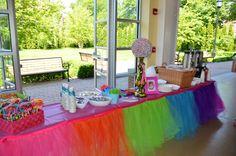Tutu Table Skirt - Great table skirt idea for a unicorn birthday