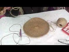 Jut rope and paper rope bag making (Nermince_orgu models) Gallery Ideas] . Bag Crochet, Crochet Purses, Jute, Crochet Designs, Crochet Patterns, Crochet Video, Diy Clutch, Round Bag, Fabric Yarn