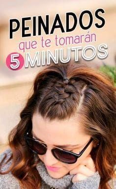 Que la falta de tiempo no sea una excusa para lucir un lindo peinado.   peinados rápidos y fáciles   peinados en 5 minutos   #peinados #style