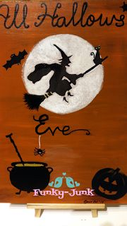 Every year I post a Halloween craft and this year is no different. You may remember the Scary Lanterns and the Painted Halloween Plates t. Halloween Plates, Halloween Crafts, Halloween Countdown, Funky Junk, Art Pictures, Lanterns, Scary, Craft Ideas, Handmade