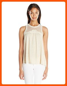 Taylor and Sage Women's Sleeveless Tank with Battenburg Lace, Heather Oatmeal, Large - All about women (*Amazon Partner-Link)