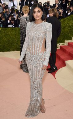 Kylie Jenner from Met Gala 2016: Red Carpet Arrivals/Nice look for her  In Balmain