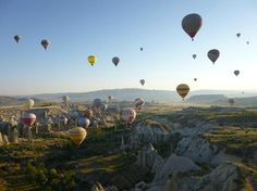 Sunrise Hot Air Balloon Flights Over Cappadocia with 115 Different Balloon on Sky  www.tours4turkey.com
