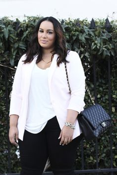 Beauticurve - Blush Blazer & Black Jeans - Beauticurve