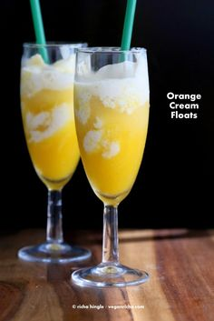 Orange Cream Floats  22 Vegan July 4th Recipes. Gluten-free Soy-free options | Vegan Richa