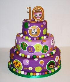 Littlest pet shop cake so cute