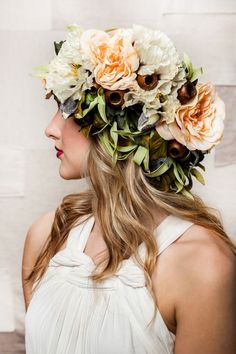 Bohemian Floral Headdress by UnionBlooms on Etsy https://www.etsy.com/listing/181565753/bohemian-floral-headdress