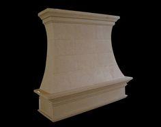 Cast Stone Range Hoods | Limestone Kitchen Hood | Custom Cover for Vent Liner